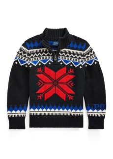 Ralph Lauren Snowflake Cotton-Blend Sweater