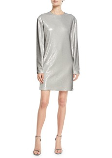 Ralph Lauren Sondra Long-Sleeve Beaded Shift Dress