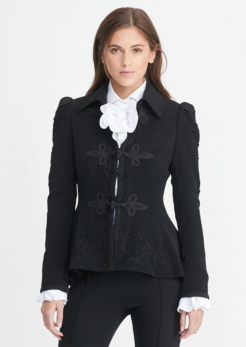 Ralph Lauren Soutache-Trim Wool Jacket