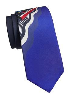 Ralph Lauren Speedboat-Print Silk Tie