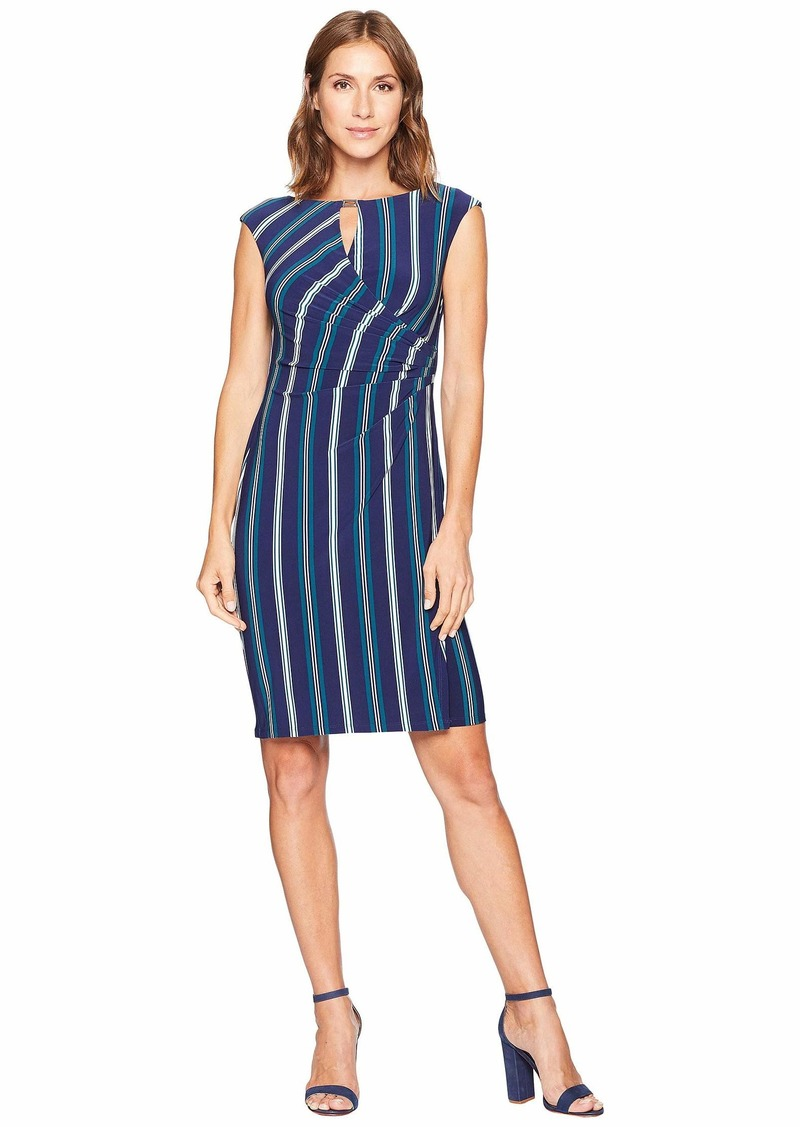 Ralph Lauren Spoletta Stripe Elkana Cap Sleeve Day Dress