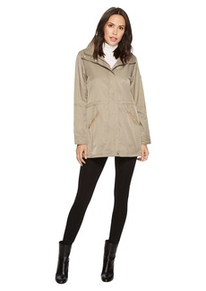 Ralph Lauren Stand Collar Anorak with Faux Leather Details