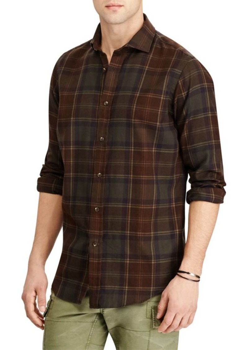 Ralph Lauren Standard-Fit Plaid Button-Down Shirt