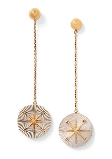 Ralph Lauren Star Brass Drop Earrings