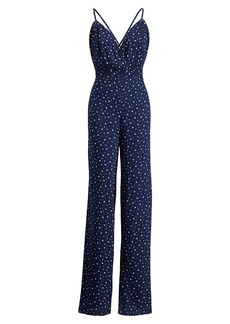 Ralph Lauren Star-Print Open-Back Jumpsuit
