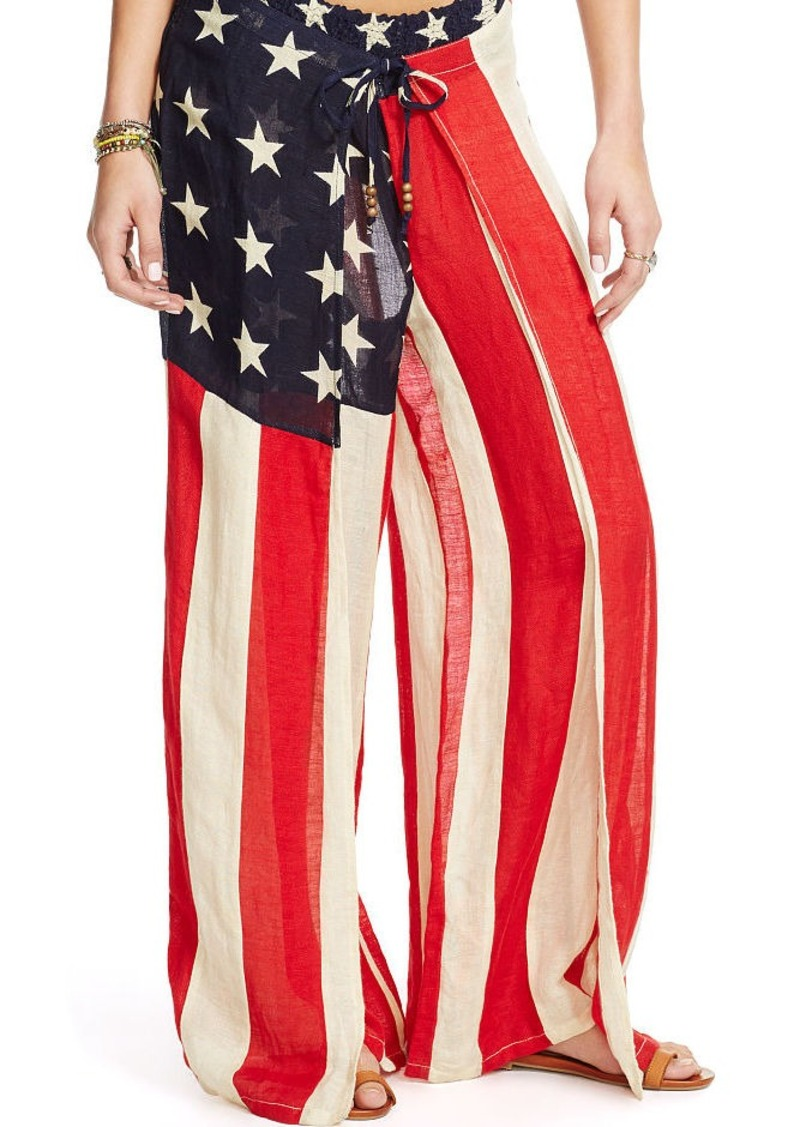 Ralph Lauren Stars-and-Stripes Gauze Pant
