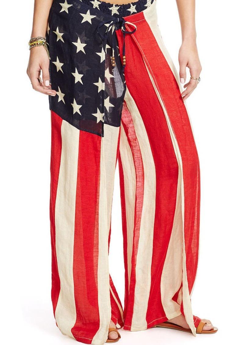 Ralph Lauren Stars-and-Stripes Gauze Pant