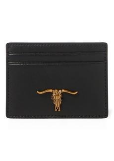 Ralph Lauren Steer-Head Leather Card Case