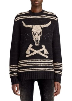 Ralph Lauren 50th Anniversary Steer Head Skull Pullover Sweater