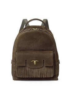 Ralph Lauren Steer-Head Suede Backpack