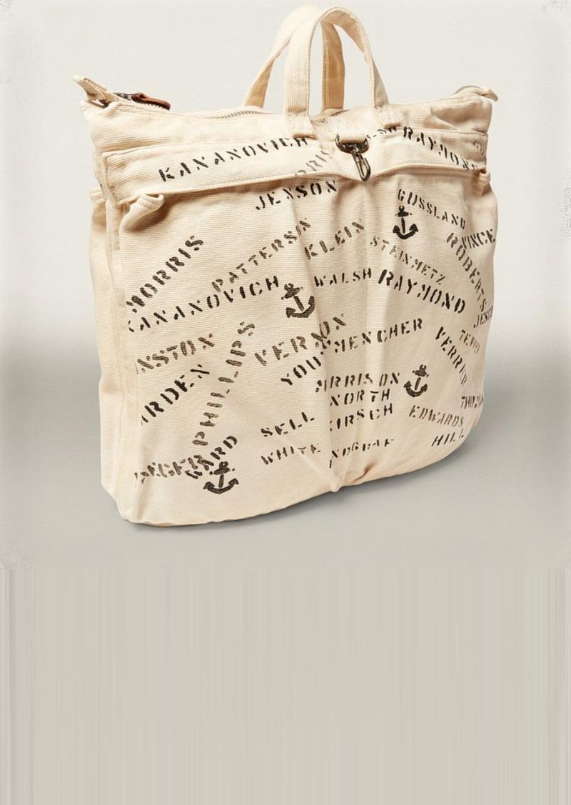 Ralph Lauren Stenciled Canvas Helmet Bag