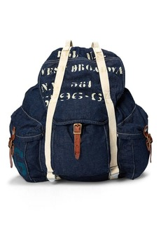 Ralph Lauren Stenciled Denim Backpack