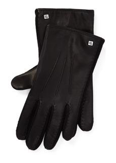 Ralph Lauren Stitched Leather Tech Gloves