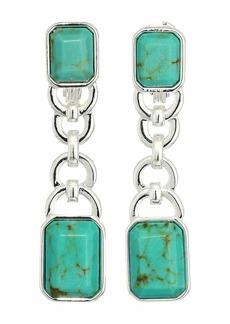 Ralph Lauren Stone Linear Clip Earrings