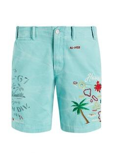 Ralph Lauren Straight Fit Linen-Blend Short
