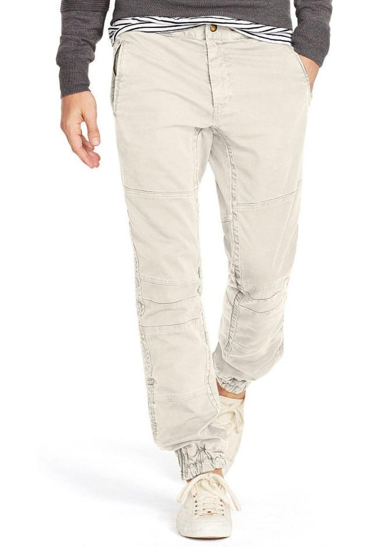 Ralph Lauren Straight-Fit Twill Moto Pant