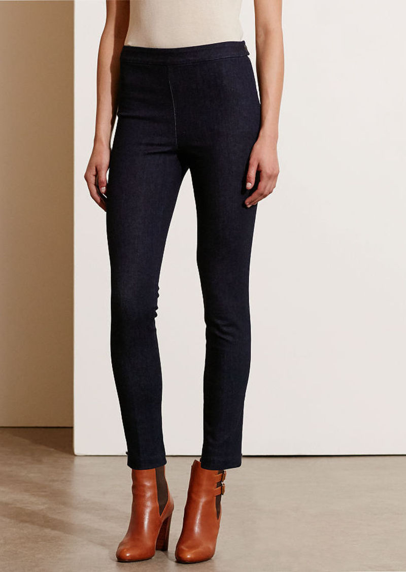 Ralph Lauren Straight-Leg Denim Pant