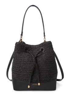 Ralph Lauren Straw Debby Drawstring Bag