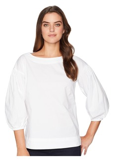 Ralph Lauren Stretch Cotton Bishop-Sleeve Top