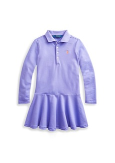 Ralph Lauren Stretch Cotton Mesh Polo Dress