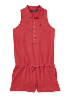 Ralph Lauren Stretch Cotton Mesh Romper