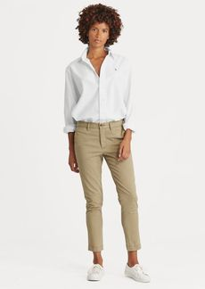 Ralph Lauren Stretch Cotton Straight Pant