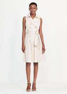 Stretch Cotton Trench Dress