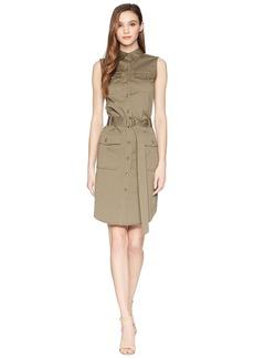 Ralph Lauren Stretch Cotton Twill Utility Dress