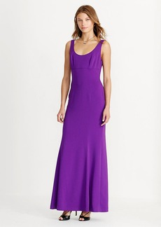 Stretch Crepe Scoop-Back Gown