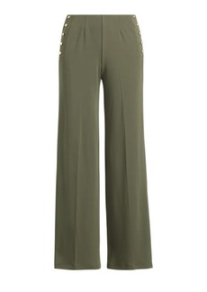Ralph Lauren Stretch Jersey Wide-Leg Pant