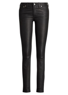 Ralph Lauren Stretch-Leather 5-Pocket Pant