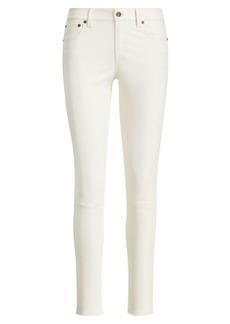 Stretch Leather Skinny Jean