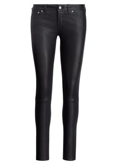 Ralph Lauren Stretch Leather Skinny Pant