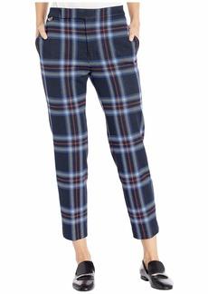 Ralph Lauren Stretch Plaid Ponte Straight Pants