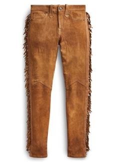 Ralph Lauren Stretch Skinny Suede Pant
