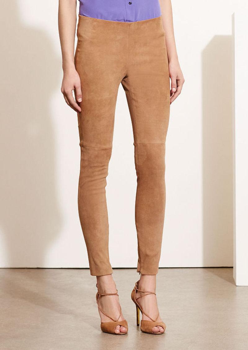 Ralph Lauren Stretch Suede Skinny Pant