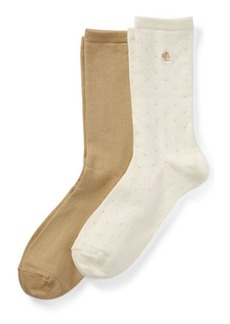 Ralph Lauren Stretch Trouser Sock 2-Pack