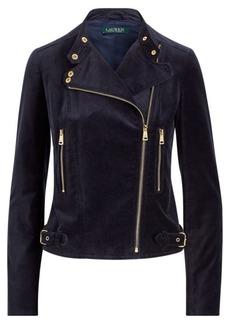 Ralph Lauren Stretch Velvet Moto Jacket