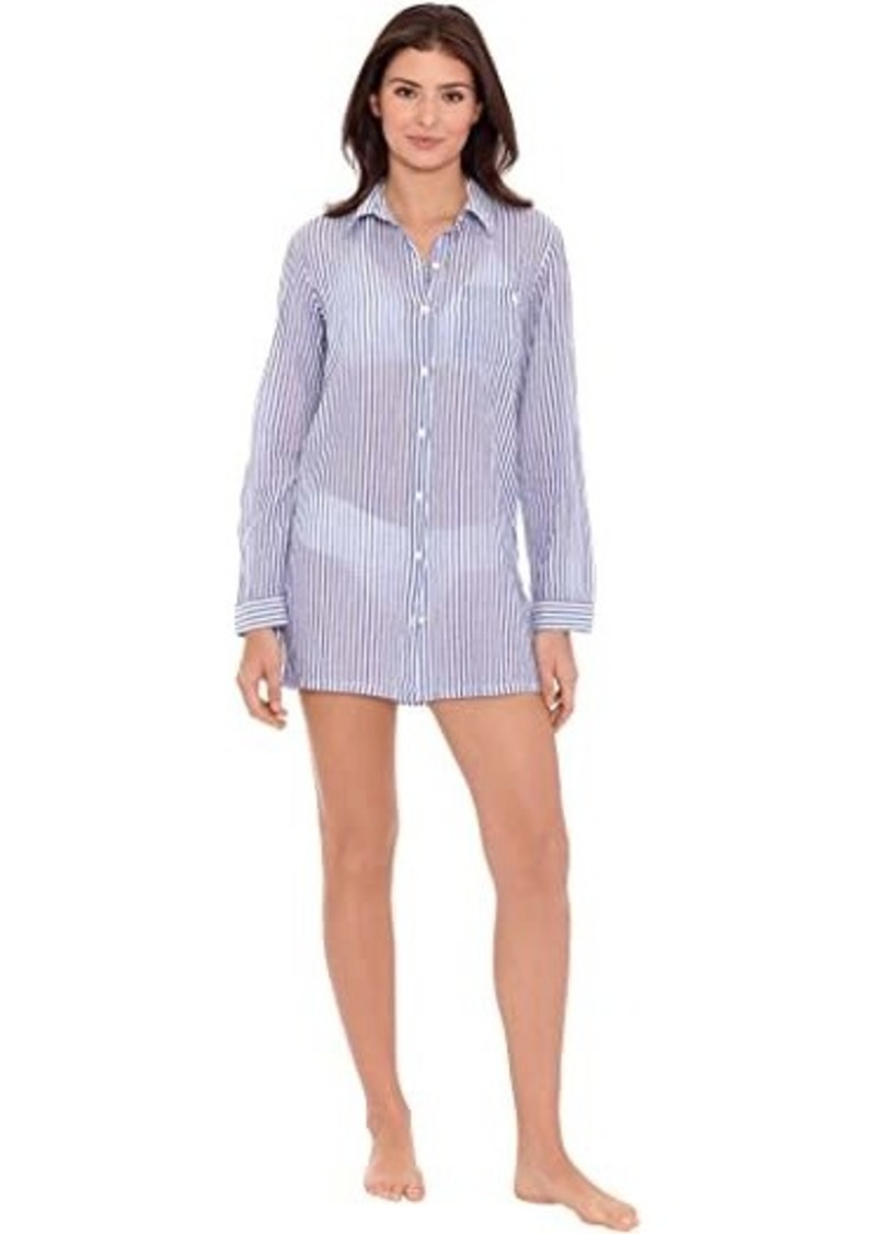 Ralph Lauren Stripe Camp Shirt Top