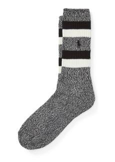Ralph Lauren Stripe Cotton-Blend Boot Socks