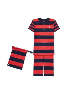 Ralph Lauren Stripe Cotton Pajama Short Set