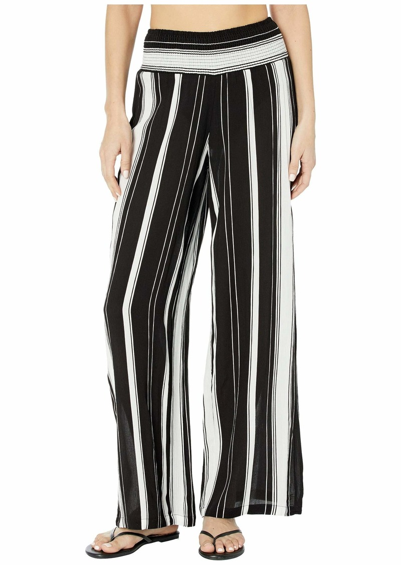 Ralph Lauren Stripe Cover-Ups Rayon Stripe Smocked Pants