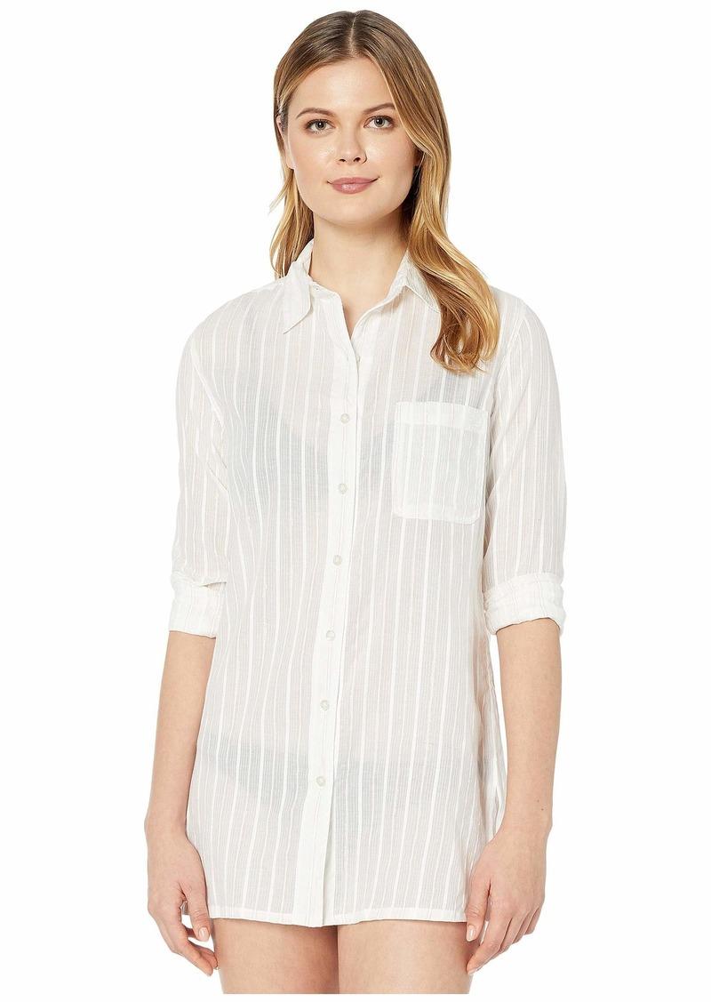 Ralph Lauren Stripe Cover-Ups Stripe Camp Shirt