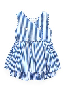 Ralph Lauren Stripe Double-Breasted Dress w/ Matching Bloomers  Size 6-24 Months