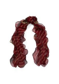 Ralph Lauren Stripe Silk Chiffon Scarf