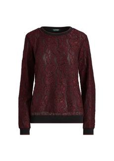 Ralph Lauren Stripe-Trim Lace Pullover