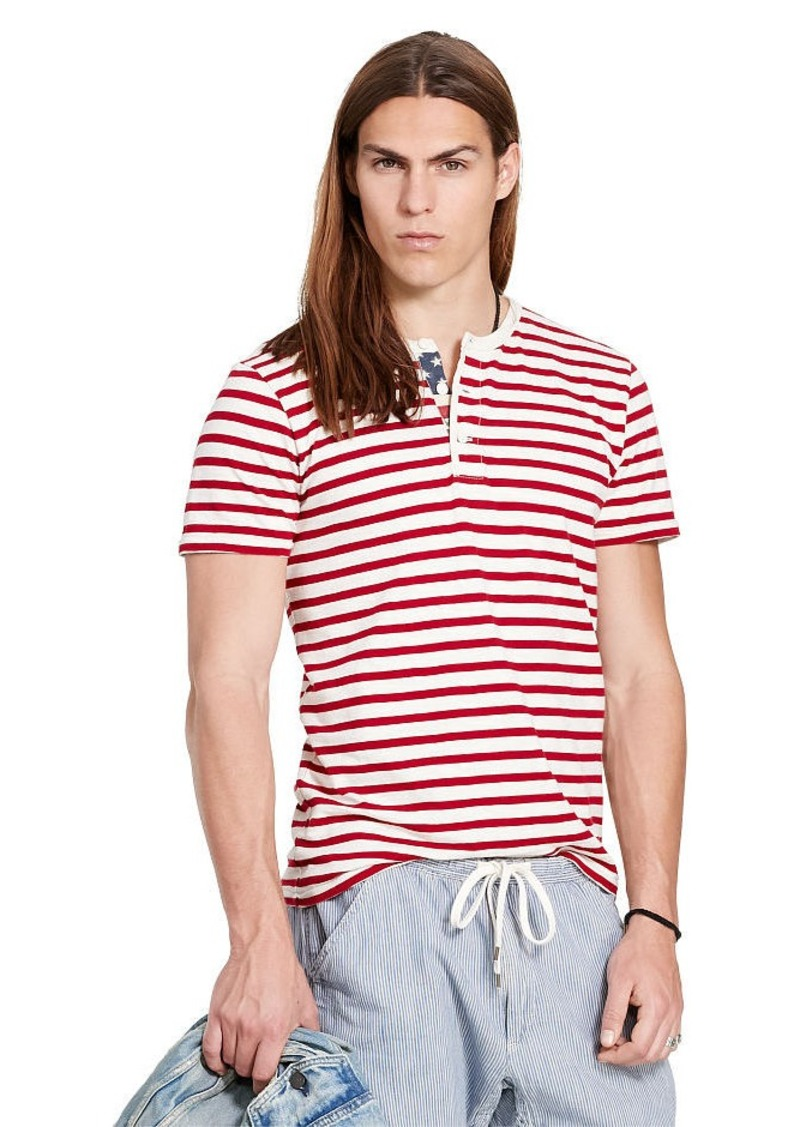 Ralph Lauren Striped American-Flag Henley