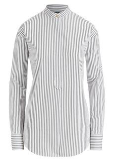 Ralph Lauren Striped Band-Collar Shirt