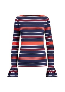 Ralph Lauren Striped Bell-Cuff Top