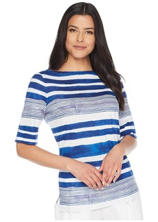 Ralph Lauren Striped Boat Neck Top